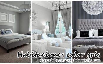 Decoración de interiores – recamaras gris