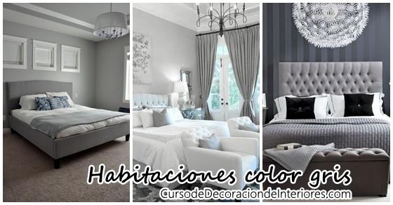 Decoraci n de interiores recamaras gris decoracion de - Decoracion en gris ...