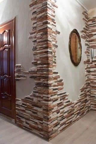 Decoraci n de paredes estilo rustico decoracion de for Decoracion en piedra para exteriores