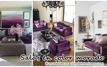 Decoración de salas de estar color morado