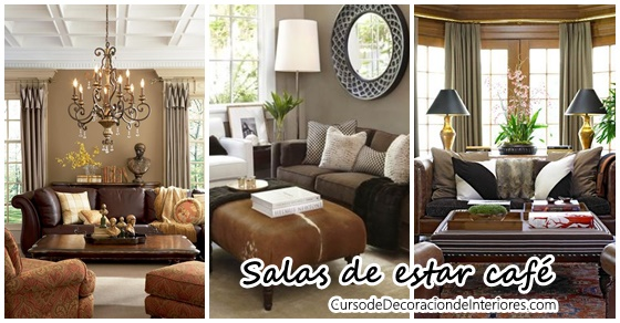 Decoraci n de salas en color caf decoracion de for Decoracion de interiores para salas
