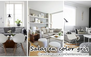 Decoración de salas en color gris