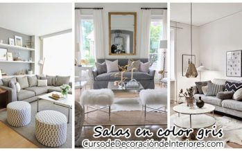 Decoración interiores – salas color gris