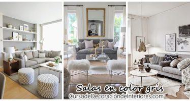 Decoración interiores – salas color gris
