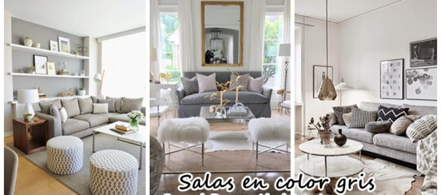Decoraci n interiores salas color gris decoracion de for Decoracion de sala gris y azul