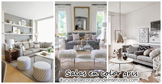 Decoraci n interiores salas color gris curso de for Curso decoracion de interiores madrid