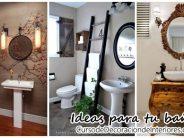 Grandiosas ideas para decoración de baños