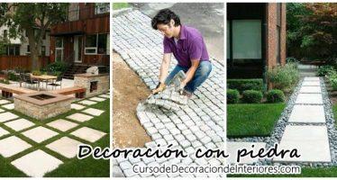 Ideas para decorar con piedras el patio de tu casa