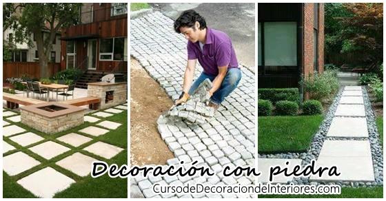 Ideas para decorar con piedras el patio de tu casa for Ideas para decorar el patio de mi casa