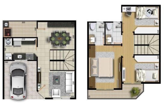 Planos y distribucion para espacios pequenos 10 for Decoracion casa 50m2