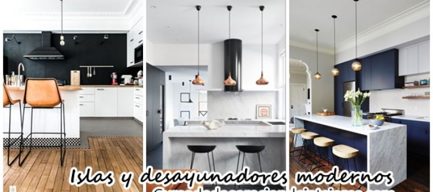 Cocinas modernas con islas y desayunadores decoracion de for Cocinas modernas con isla central y desayunador