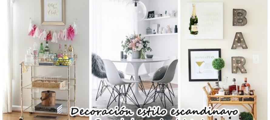 Comedores y bar en casa estilo escandinavo decoracion de for Casa y estilo decoracion
