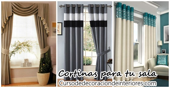 Cortinas para decorar tu sala de estar decoracion de for Decoracion de cortinas para sala