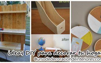 DIY para reciclar y decorar tu hogar