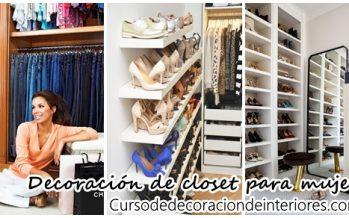 Decoración de closet para mujer