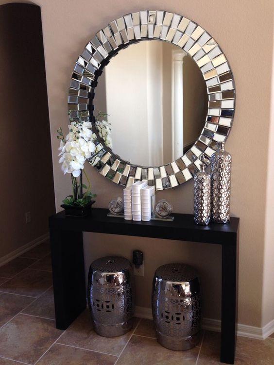decoracion de entradas con espejos 10 - Decoracion Espejos