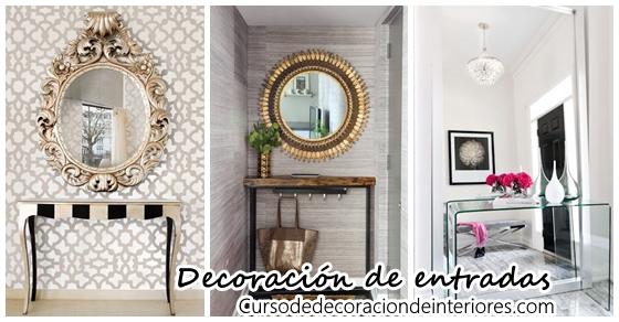 Decoraci n de entradas con espejos curso de decoracion de interiores interiorismo - Espejos para entradas ...