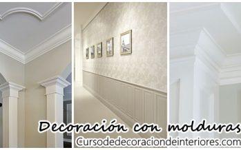 Decoración de interiores con molduras