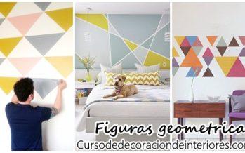 Decoración de paredes con figuras geometricas