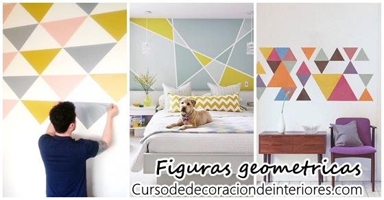 Decoracion De Paredes Con Figuras Geometricas Curso De Decoracion - Decoracion-figuras