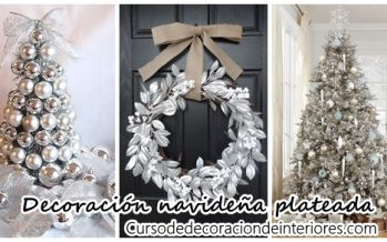 Decoración navideña 2016 color plateado