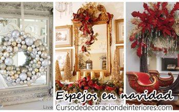 Decoración navideña con espejos