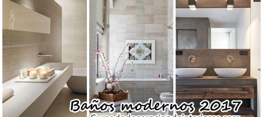 Dise a tu ba o moderno tendencias 2017 decoracion de for Banos tendencia 2016