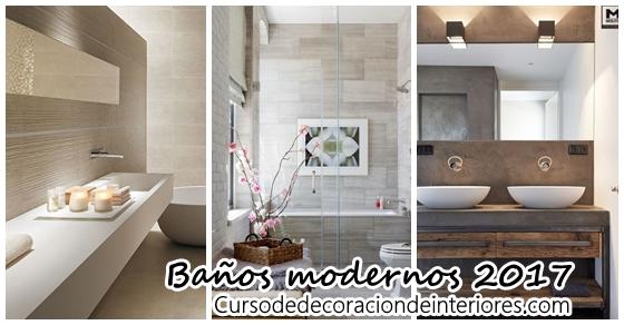 Diseña tu baño moderno - tendencias 2017 | Decoracion de interiores ...