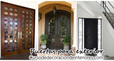 Diseños de puertas para exteriores