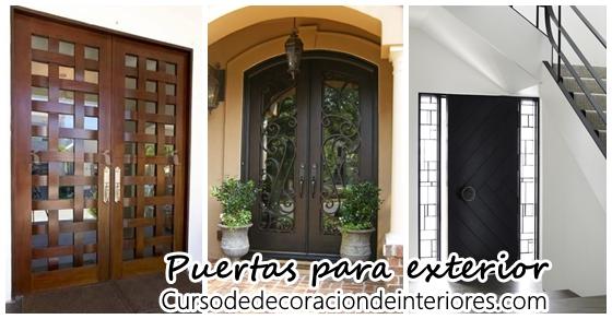 Dise os de puertas para exteriores decoracion de interiores interiorismo decoraci n for Disenos puertas metalicas para exteriores