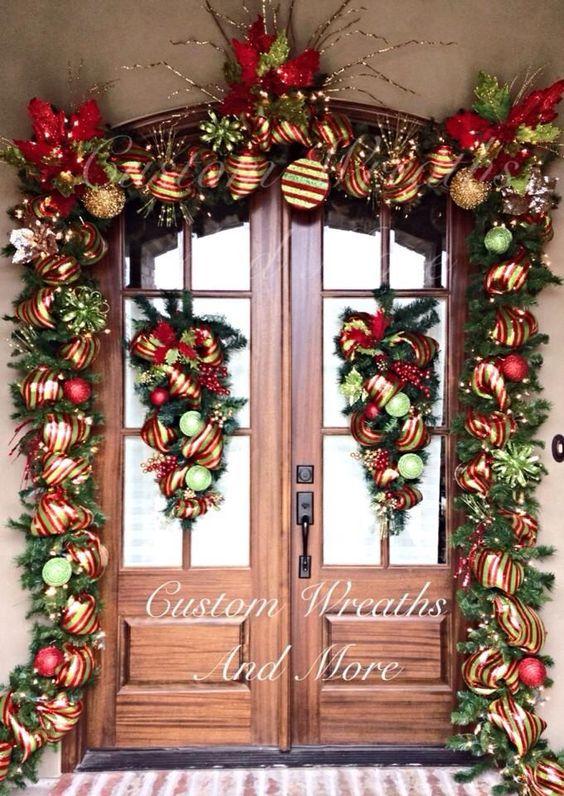 Ideas para decorar la entrada de tu casa esta navidad 2016 - Ideas para decorar una entrada de casa ...