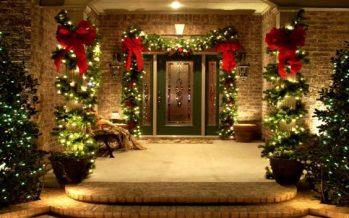Ideas para decorar la entrada de tu casa esta navidad 2017-2018