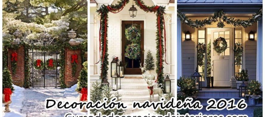 Ideas para decorar la entrada de tu casa esta navidad 2016-2017