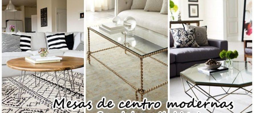 Mesas de centro modernas y como decorarlas