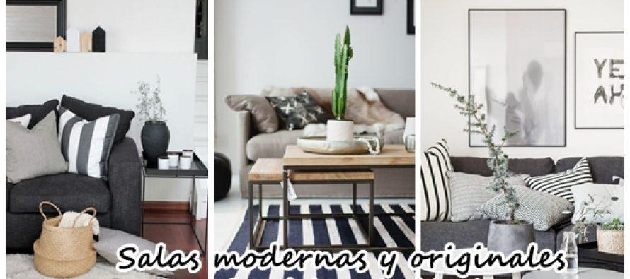 Opciones modernas y originales para decorar tu sala