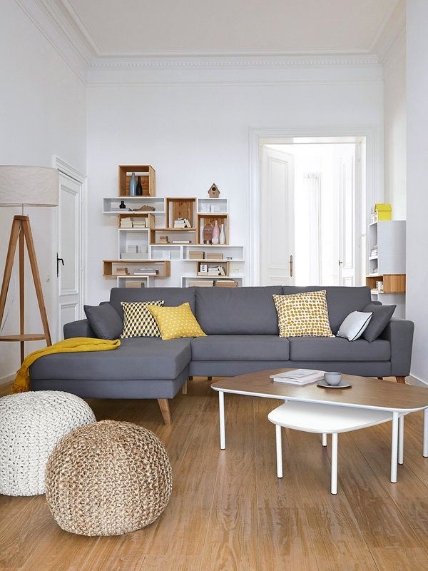 Salas de estar estilo escandinavo 39 decoracion de for 2 canapes dans un petit salon
