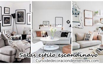 Salas de estar estilo escandinavo