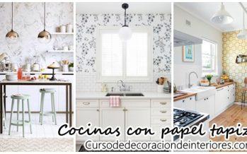 Tendencia en decoración de cocinas con papel tapiz