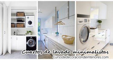 Decoración de cuartos de lavado estilo minimalista