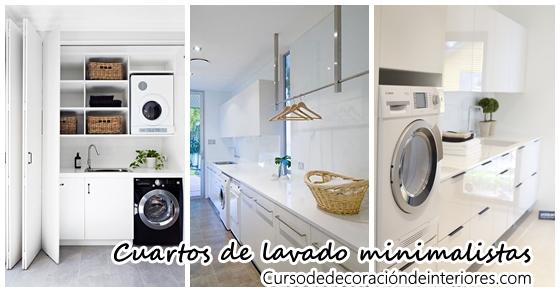 Decoración de cuartos de lavado estilo minimalista | Curso de ...