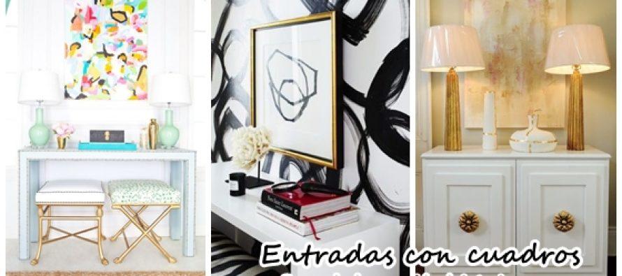 Decoraci n de entradas con cuadros decorativos - Decoracion de interiores con cuadros ...