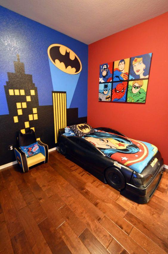 Decoracion de habitacion para nino de super heroes 14 for Dormitorio super heroes