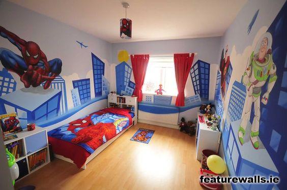 Decoracion de habitacion para nino de super heroes 23 - Habitacion ninos decoracion ...