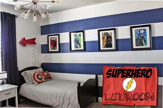 Decoracion De Habitacion Para Nino De Super Heroes 25