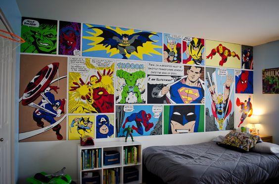 Decoracion de habitacion para nino de super heroes 30 for Dormitorio super heroes