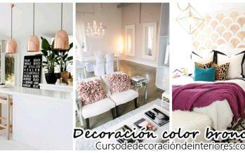 Decoración de interiores color bronce