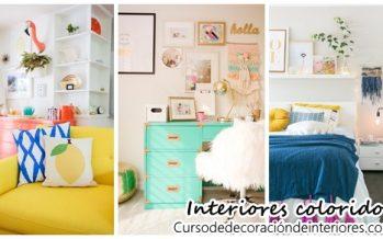 Decoración de interiores colorida