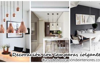 Decoración de interiores con lamparas colgantes