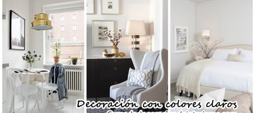 Decoración de interiores en colores claros