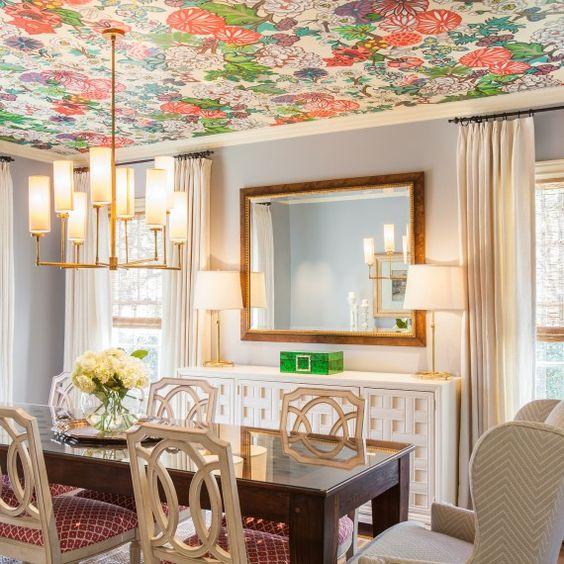 Decoraci n de techos con papel tapiz se mira hermoso 39 - Mira y decora ...